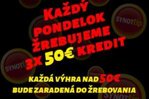 Herňa Poprad každý pondelok 50€ kredit navyše