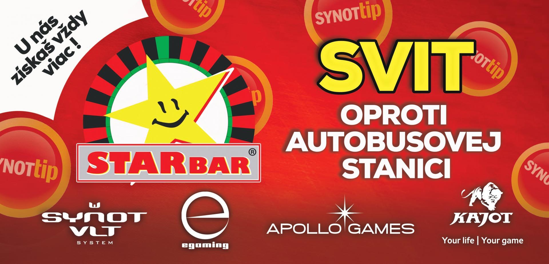 Starbar - u nás získaš vždy viac herňa Svit
